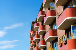 Building architecture with balconies Royalty Free Stock Images