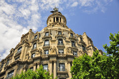 Building architecture in barcelona spain. A shot of one of the many beautiful buildings in barcelona spain Royalty Free Stock Photos