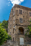 Building architecture in Corte in Corsica Royalty Free Stock Photos
