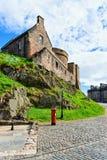 Building architecture of Edinburgh Castle in Scotland. In the UK stock photos