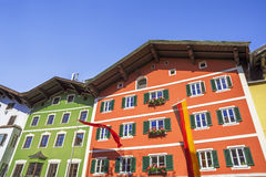 Building architecture in the historical center of Kitzbuhel Royalty Free Stock Photos