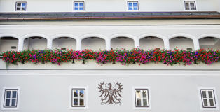 Building architecture in the historical center of Kitzbuhel Stock Photography
