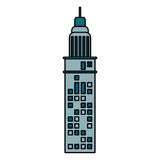 Building architecture modern antenna. Illustration eps 10 Royalty Free Stock Images