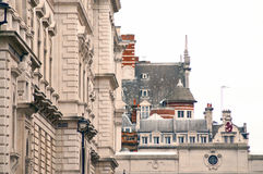 Building architecture. Old buildings in london, from a perspective Royalty Free Stock Photo