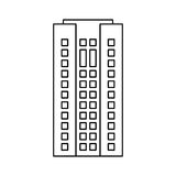 Building architecture residential skyscraper outline. Illustration eps 10 Stock Photo