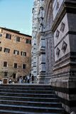 A building architecture in Siena, Italy royalty free stock photo