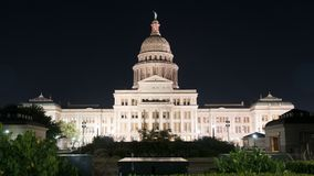 Over Night Grounds Landscape Texas State Capital Building Austin royalty free stock photos