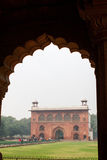 Building in Archway in The Red Fort in Delhi India Stock Images