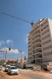 In the Building Area. At the construction object in Big Tel Aviv Stock Photo