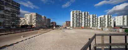 Building area, Denmark. Building area at Aarhus in Denmark stock photos