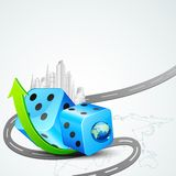 Building around Dice Royalty Free Stock Photography