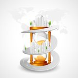 Building around Hourglass Royalty Free Stock Photography