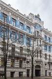 The building in Art Nouveau style, Riga. Magnificent art Nouveau style house in the Centre of Riga, Latvia (Elizabetes Street 10b Stock Image