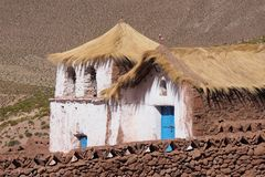 Building in the Atacama desert stock images