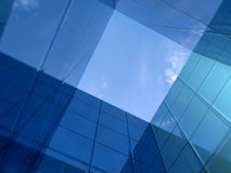 Building atruim - modern blue architecture Royalty Free Stock Image