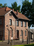 Building in Auschwitz concentration camp Stock Photos