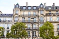 Building in Avenue des Champs Elysees, Paris, France Stock Image