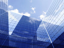 Building on a background of blue sky Stock Photo