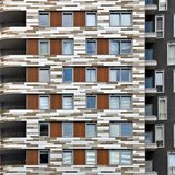 Building with balconies Royalty Free Stock Image