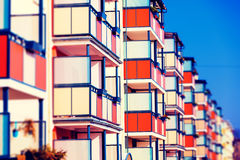 Building with balconies Royalty Free Stock Images