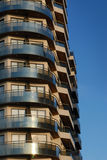 Building balconies on a blue sky Royalty Free Stock Photo