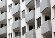Building balconies in repetition Royalty Free Stock Photos