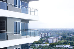 Building balcony Royalty Free Stock Photography