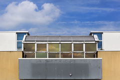 Building with balcony from the seventies. Building with balcony built in the seventies in Capelle aan den Ijssel in the Netherlands Stock Photos