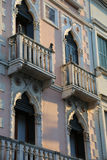 Building with balcony and windows in the Venetian style Stock Photography