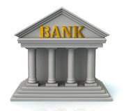 Building of bank. 3d illustration of building of bank Royalty Free Stock Photo