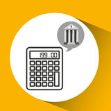 Building bank economy calculator money Stock Photography