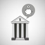 Building bank economy money piggy. Vector illustration eps 10 Royalty Free Stock Photo