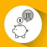 Building bank economy money piggy. Vector illustration eps 10 Stock Images