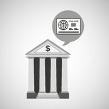 Building bank economy money. Vector illustration eps 10 Royalty Free Stock Images