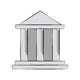 Building bank financial money. Vector illustration eps 10 Stock Image