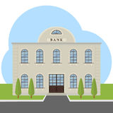 Building of the bank. The bank. Flat design, illustration stock illustration