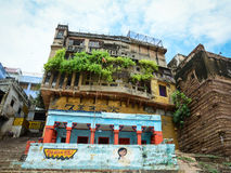 A building on the bank of Ganges river in Varanasi, India Stock Photos