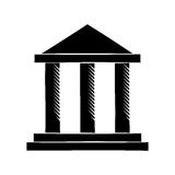 Building bank invesment money pictogram Royalty Free Stock Photography