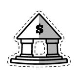 Building bank money finance cut shadow Stock Photography