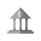 Building bank money finance flat icon. Illustration eps 10 Royalty Free Stock Photo