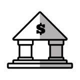 Building bank money finance shadow. Illustration eps 10 Royalty Free Stock Photos