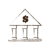 Building bank money finance sketch. Illustration eps 10 Stock Photos