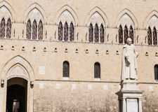 The building of the bank Monte dei Paschi di Siena Palazzo Salimbeni Royalty Free Stock Photography