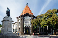 The building of the Bank of Portugal on Madeira island Stock Images