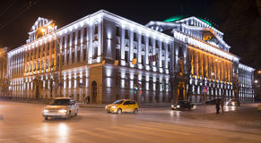 Building the Bank of Russia lit decorative illumination Royalty Free Stock Photography