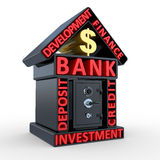 Building of bank and the safe, abstract design Royalty Free Stock Images