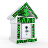 Building of bank and the safe, abstract design Royalty Free Stock Photo