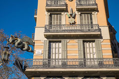 Building in Barcelona Stock Photo