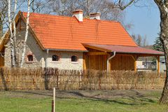 Building, barn, open-air museum in the village - reconstruction of IXX century Royalty Free Stock Photos