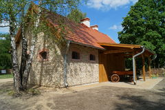 Building, barn, open-air museum in the village - reconstruction of XX century Royalty Free Stock Photo